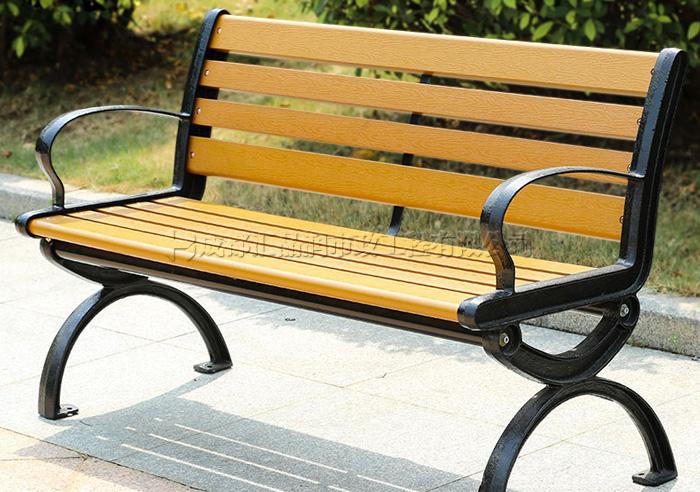 南充塑木休闲长椅