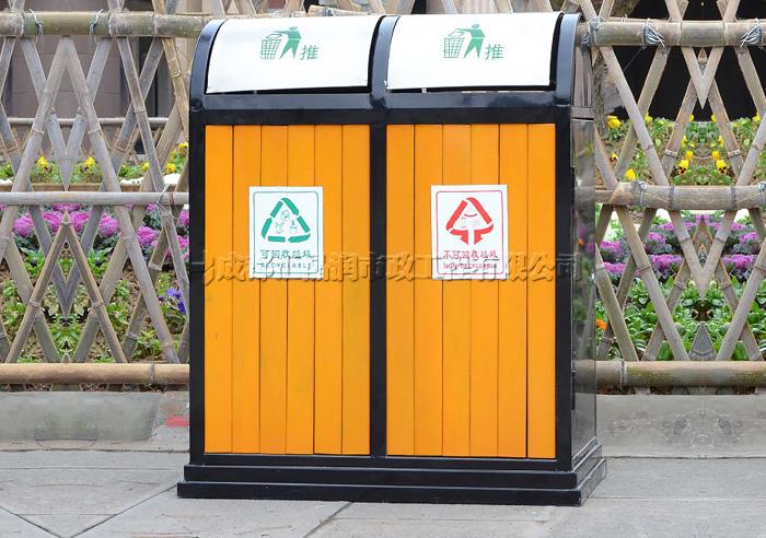 重庆渝北区钢木垃圾桶