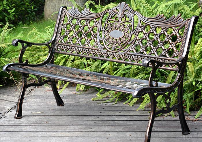 成都铁艺休闲座椅公园长椅