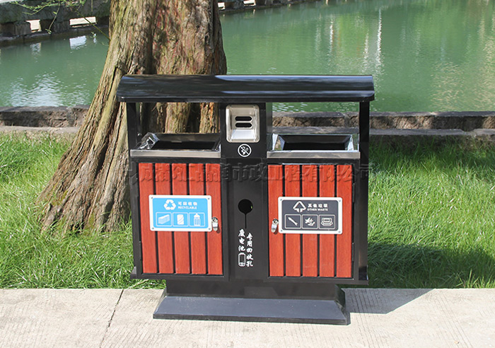 绵阳市政钢木垃圾桶