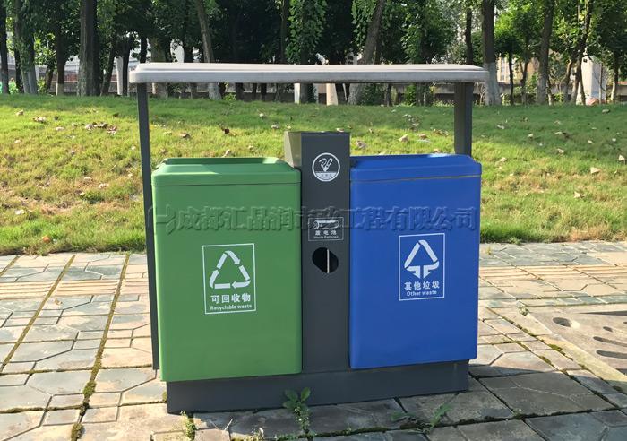 成都市政钢制环卫垃圾桶T-20371