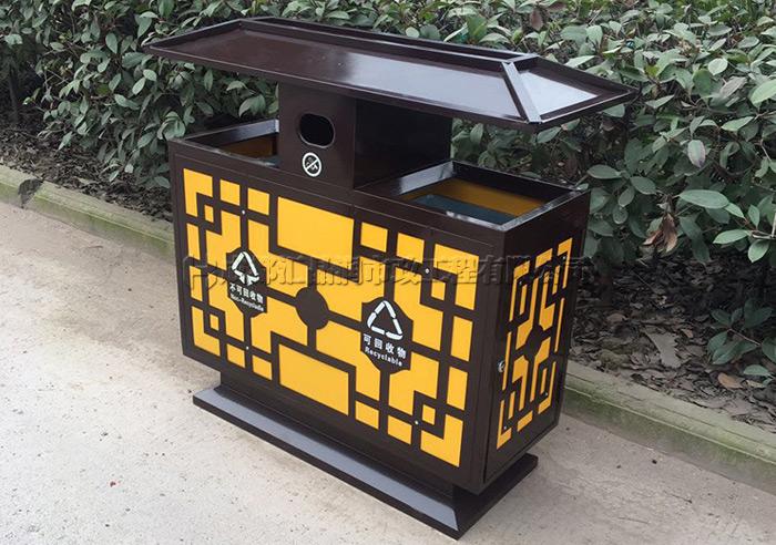 绵阳钢制分类垃圾桶T-20375