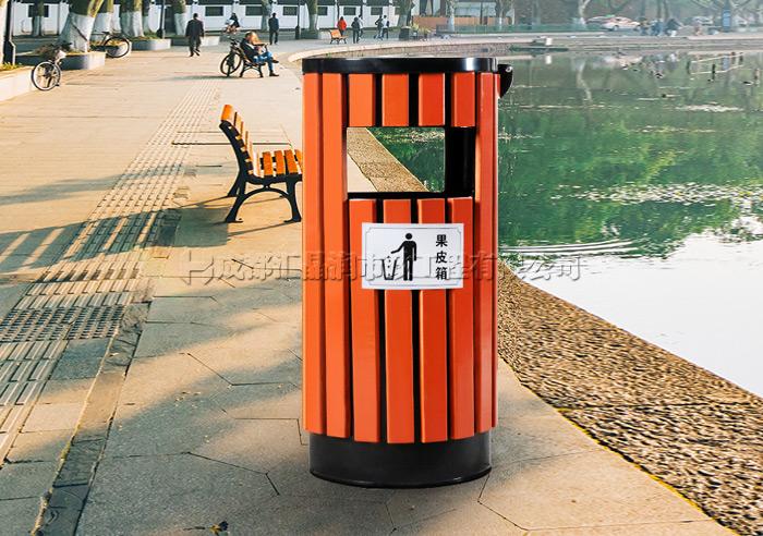 重庆小区钢木果皮箱