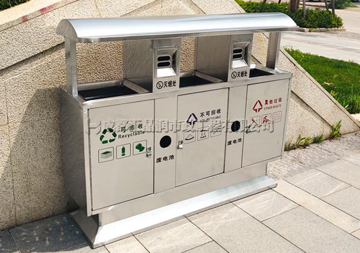 绵阳不锈钢三分类垃圾桶