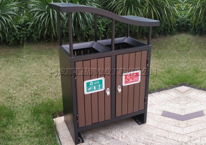 绵阳定制钢木环卫垃圾桶