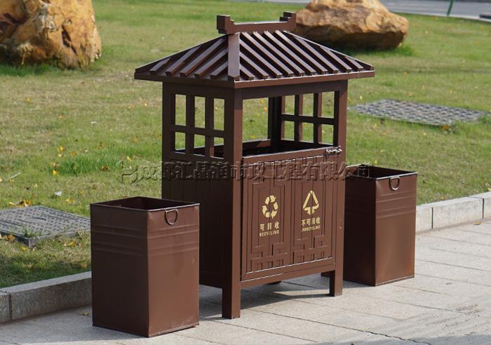 绵阳钢制环卫分类垃圾桶