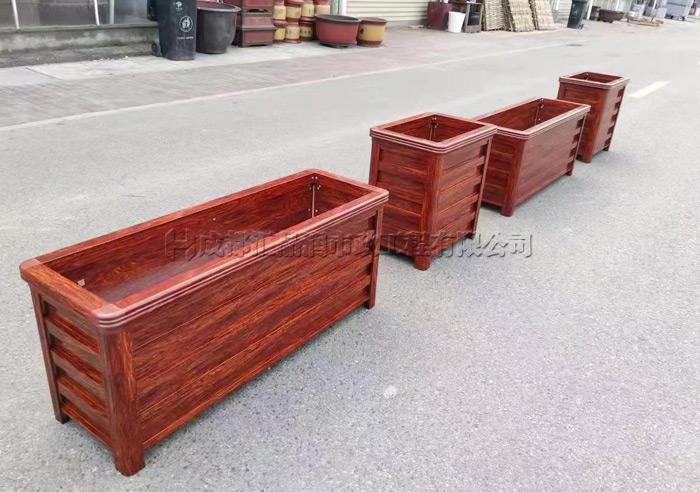 成都景区古典中式垃圾桶