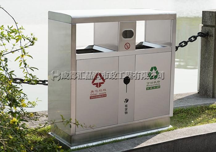 重庆不锈钢环卫分类果壳箱