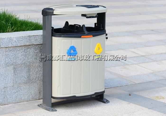 重庆小区中庭垃圾桶