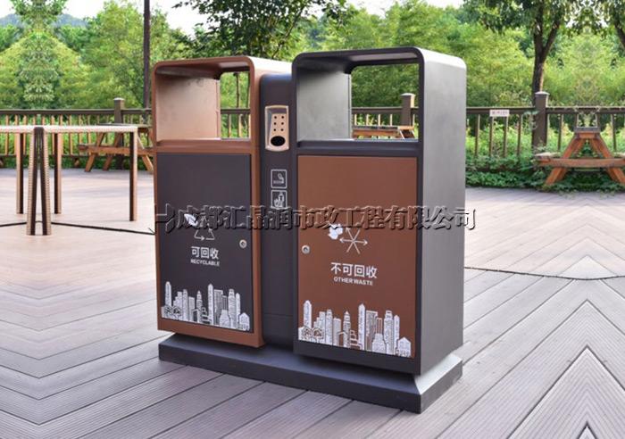 重庆城市街道分类垃圾桶