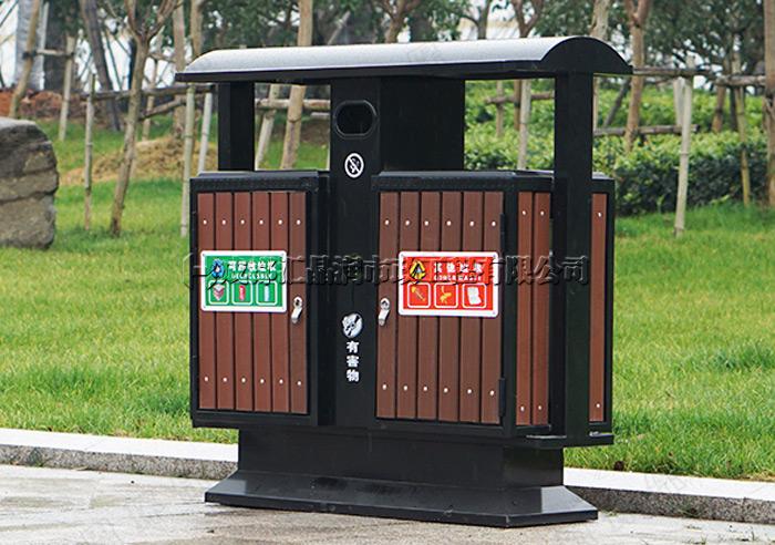 重庆江北区钢木环卫垃圾桶