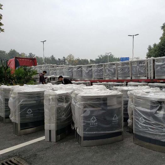 龙泉车城产业园配套垃圾桶交付