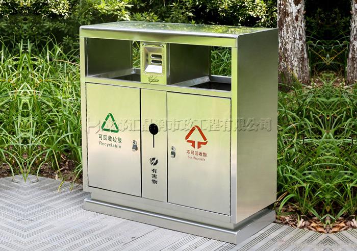 绵阳不锈钢分类垃圾桶